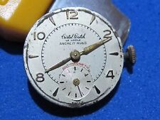 CRISTAL WATCH LE LOCLE DIAL&MOVEMENT MANUAL CAL.D4.0 SWISS MADE 17 JEWELS