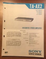 sony ta ax2 2 kanal verst rker ebay rh ebay com sony ta-ax2 service manual sony ta-ax2 service manual