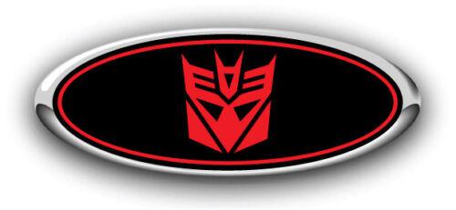 "F250//F350 2017-2018 3PC Kit  Transformers /""Decepticon/"" Overlay Emblem Decals B//R"