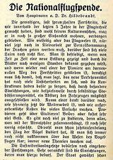 Die Nationalflugspende ( für Angehörige verunglückter Flieger ) 1912