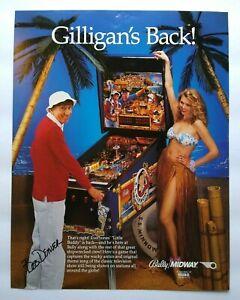 Volante de Pinball Bally Isla de Gilligan's Original 1991 impresión de arte hoja Bob Denver
