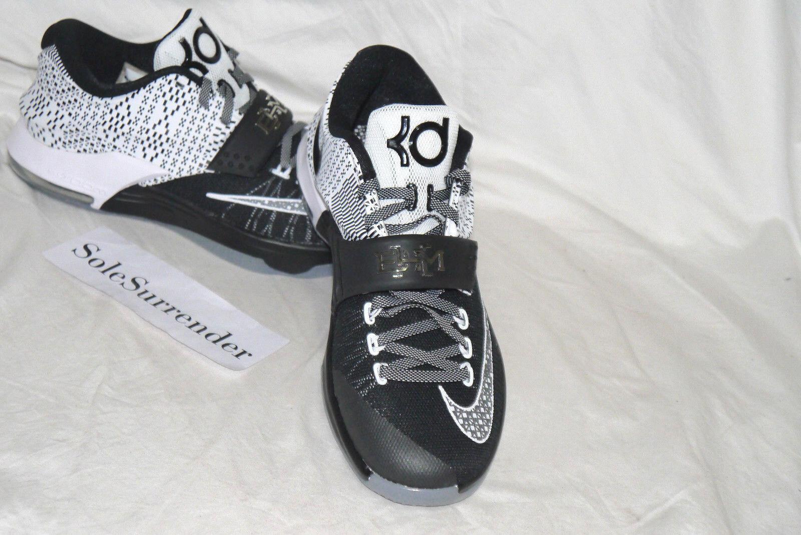 Nike kd vii bhm - größe 8 - - neu - - 718817-010 schwarz history month weiß durant. 6d0526