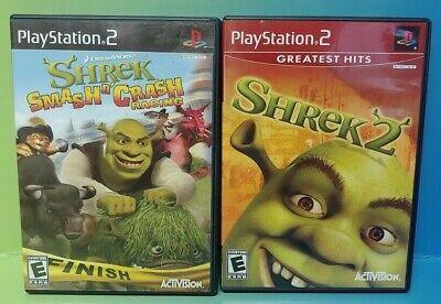 Disney Shrek 2 Smash N Crash Race Ps2 Playstation 2 Game Lot Tested Complete Ebay