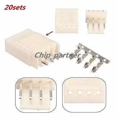 20pcs KF2510-4P 2.54mm Pin Header+Terminal+Housing Connector Kits