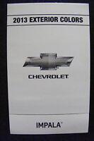 2013 Chevrolet Impala Dealership Exterior Color Chart