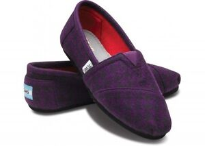 TOMS-PURPLE-HOUNDSTOOTH-WOMEN-039-S-CLASSICS-SHOES-Style-001121B11-PURPL