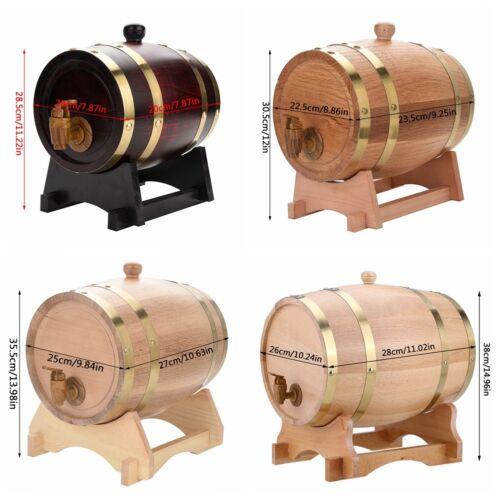 Holzfass 1.5//3//5//10 Liter Whiskyfass Eichenfass Weinfass Schnapsfass Fass NEU+