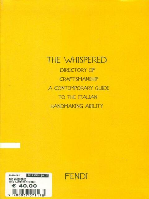 THE WHISPERED  AA.VV. FENDI 2010