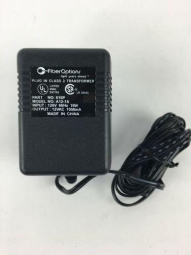 FO-610P A12-1A Plug In Class 2 Transformer 120V Power Supply Fiber Options GE