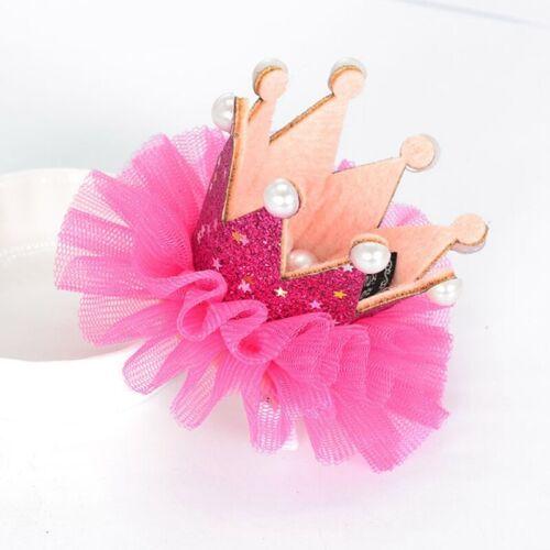 Haarspange Slides Style Neugeborenes Baby Mädchen Perle Krone Stirnband Weich