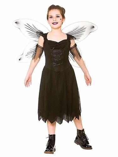 Halloween cattive ragazze Costume Età 5-13 Figlio caduto SCURO ALI DI FATA