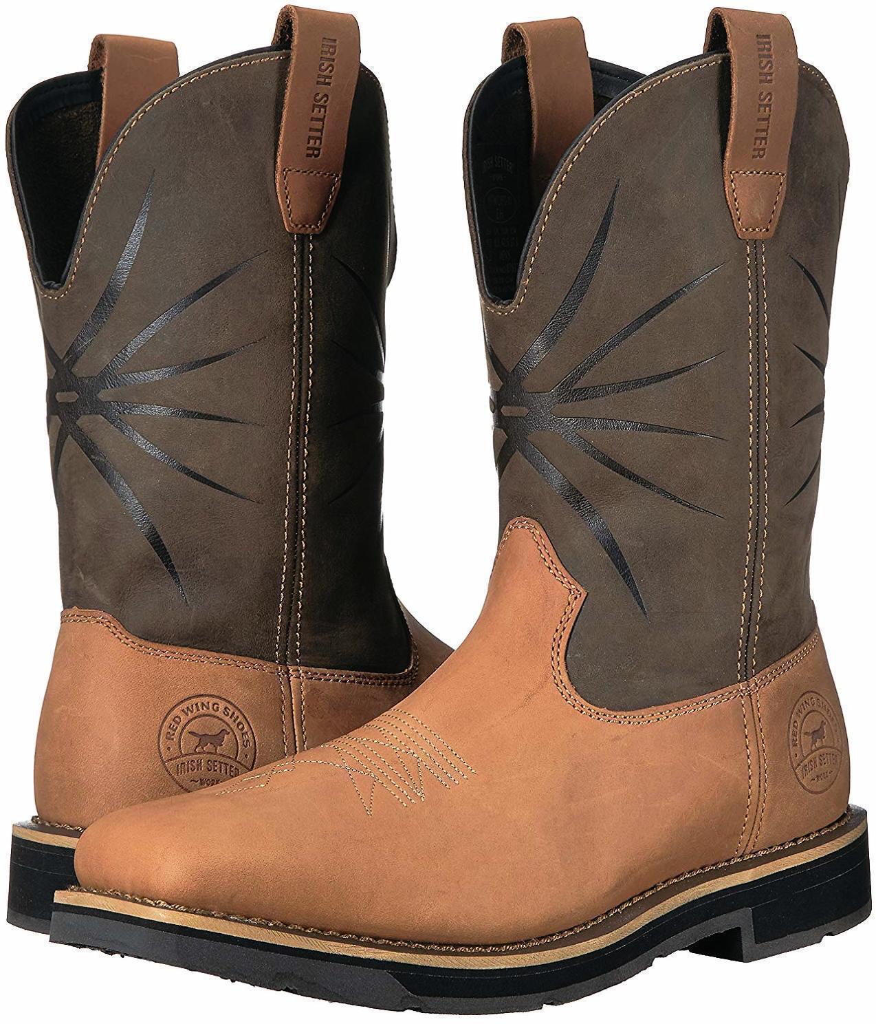 14 D Irish Setter Red Wing Walker 83937 men's Pull-on Western Work Cowboy Boots