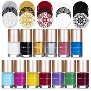 9ml-Nail-Stamping-Polish-Black-White-Silver-Nail-Art-Stamp-Varnish-NICOLE-DIARY