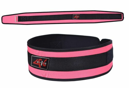 4Fit Women/'s Weight Lifting Belt Gym Workout Power Lifting Back Suport PinkXS-XL
