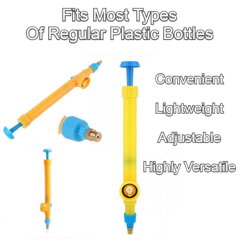 2X High Pressure Water Bottle Garden Spray Tool - Portable Weed Sprayer Pump Kit