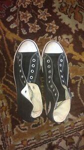 Converse Chuck Taylor All Star High Top Tennis Shoes, Black Logo Men's 10.5