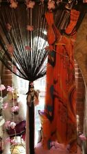 Silk Maxi Dress Grecian Traffic People Long UK 12 Evening Gown Party Orange Prom
