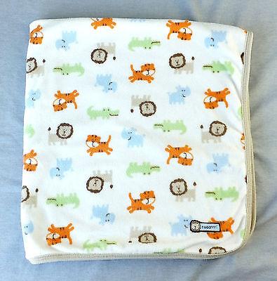 "Carters Baby Security Blanket Roaarrr! Jungle Animals Soft Fuzzy Tan Boys 28"""