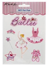 25 x Job Lot Girls Pink Ballet Iron On Motifs Party Bag Fillers MOT-7 By Katz