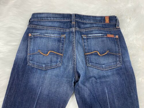 7 for all Mankind Boot Cut Blue Jeans Womens 27 X 31 Pants