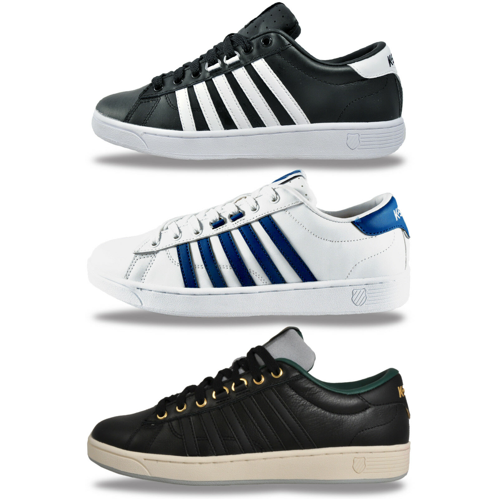 K Swiss Mens Hoke Classic Leather Retro Trainers From Only