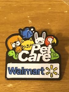 Details about Rare Walmart Lapel Pin Pet Care Pets Department Wal-mart  Pinback