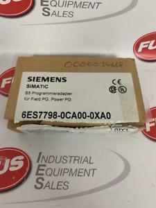 Siemens 6ES7798-0CA00-0XA0 programa Adaptador para campo PG sin usar