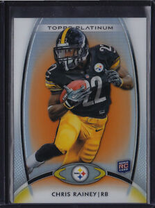 2012-TOPPS-PLATINUM-ORANGE-REFRACTOR-RC-CHRIS-RAINEY-114-STEELERS-GATORS