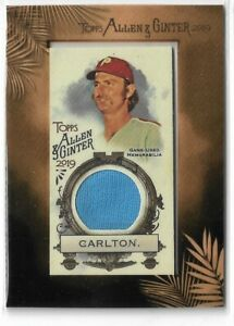 2019-Allen-amp-Ginter-Baseball-Framed-Mini-Relic-Parallel-Steve-Carlton