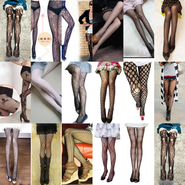 Goth Punk Nightclub Women's Sexy Fishnet Pantyhose Tights Stockings