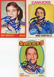 Buffalo Sabres Mike Robitaille signed 1973 - 74 OPC card