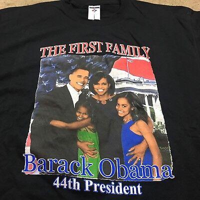 Barack Obama 2008 Vintage espère que l/'histoire des Noirs campagne T shirt hip hop L Michelle