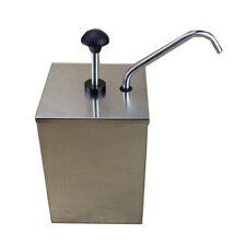 3l 1 Bucket Sauce Dispenser Pump Squeeze Condiment Dispensing Stainless Steel