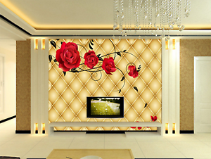 3D gold Diamond Flowers 48 Paper Wall Print Wall Decal Wall Deco Indoor Murals