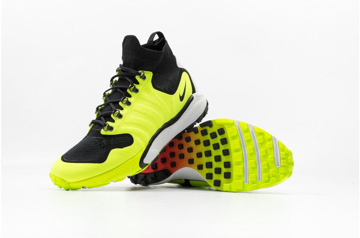New Nike Zoom Talaria Mid FK Lab Size 10 Volt Black OG Neon 856955-007