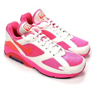 27b0f08e5537 NWT Comme des Garcons Nike Air Max 180 CDG White Pink Sneakers 2018 ...