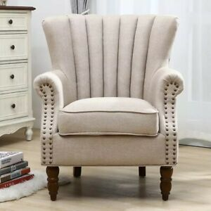 Luxury Modern Classic Armchiair Single Sofa Wood Frame Accent Occational Chair Ebay