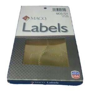 MACO Gold Foil Notarial Seals 2-1/4 Inches in Diameter -32 ...
