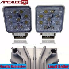 2 x 27W White Flood Work LED Light Bar Lamp Driving Offroad SUV Boat Truck Boats