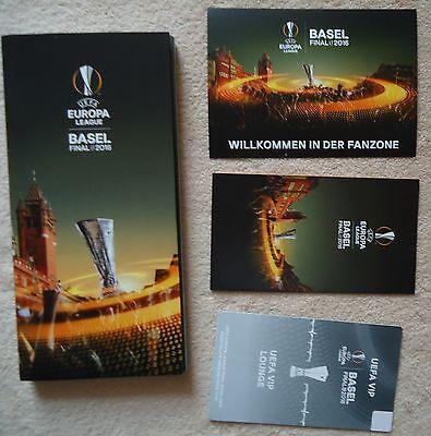 Postkarte Sevilla VIP Lounge UEL Final 2016 Liverpool 4 items Map Fan Info