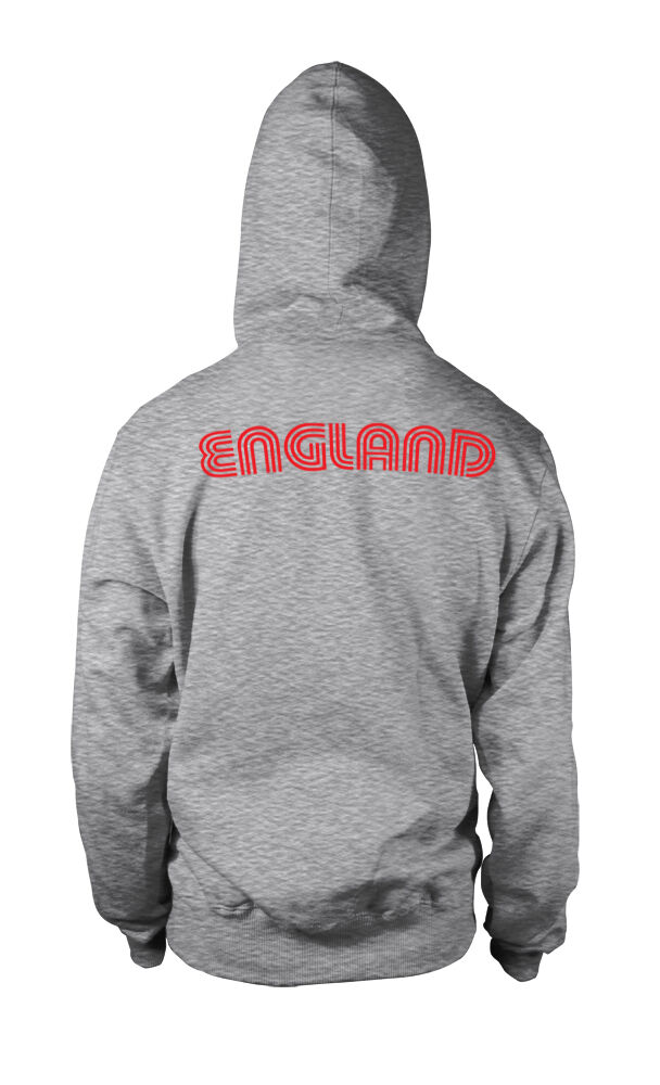 England National Country Pride The Three Lions Football 2-tone Hoodie Pullover