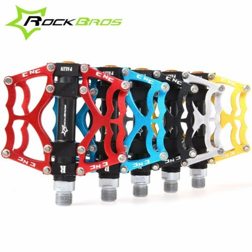 New RockBros Mountain Bike Pedals Aluminum Alloy MTB Sealed Bearing Pedal 9/16