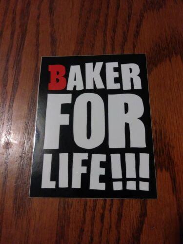 BAKER SKATEBOARDS THE OG ICONIC BAKER FOR LIFE ! LOGO SQUARE SKATEBOARD STICKER