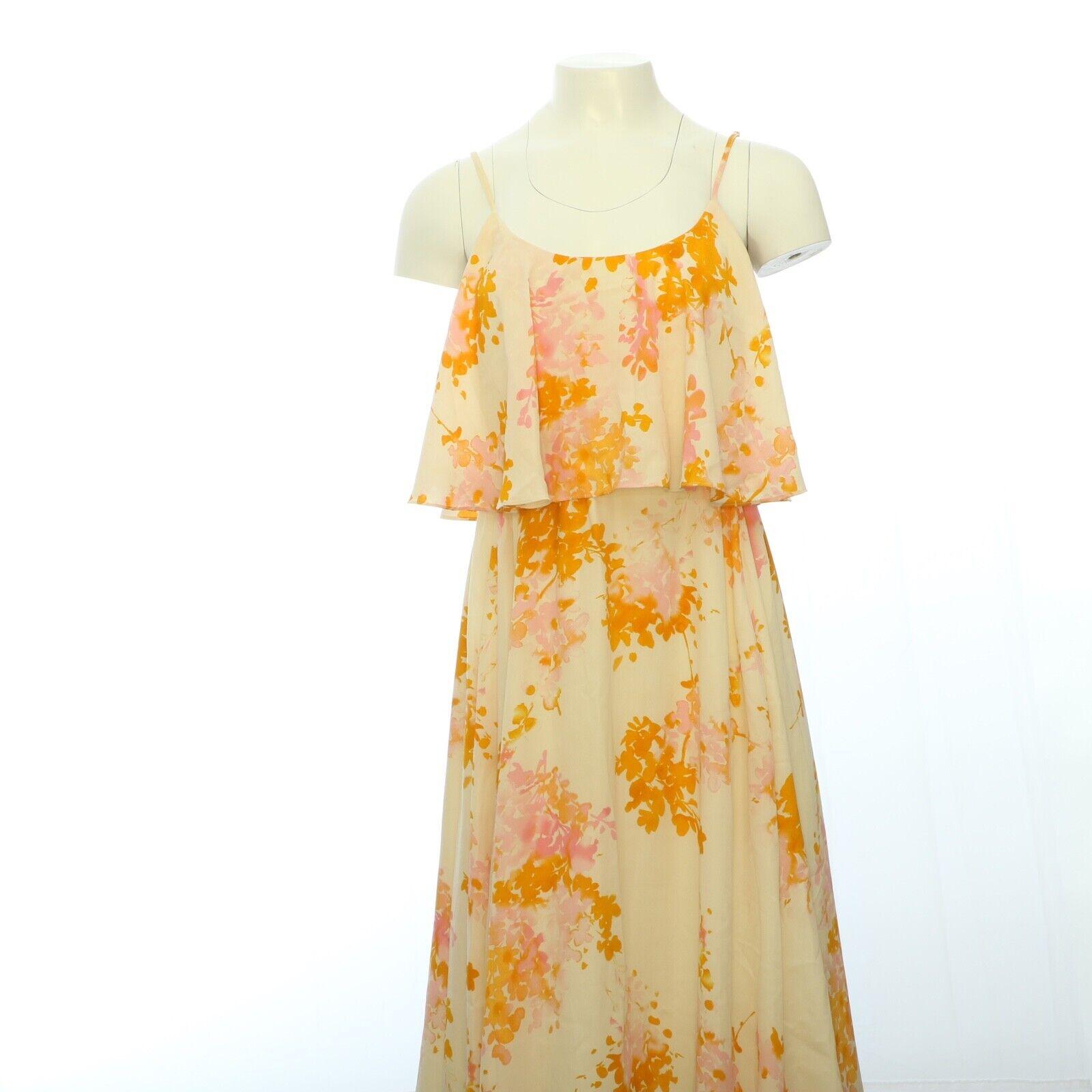 Paper Crown Womens Midi Dress XS Floral Tier