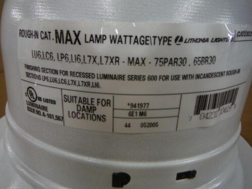 1 Pack of 6 Lithonia Lighting White Eyeball Recessed Lighting 6E1