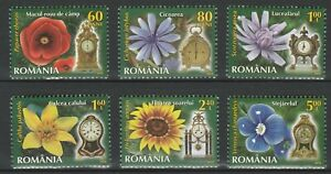 Romania-2013-Flowers-6-MNH-stamps