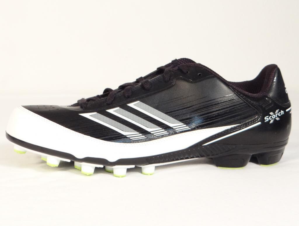 Adidas Scorch X Field Turf Football Cleats Black & White Mens NWT