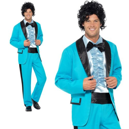 Mens 50s 80s Prom King Costume Wedding Singer Tuxedo Fancy Dress Outfit M-XL
