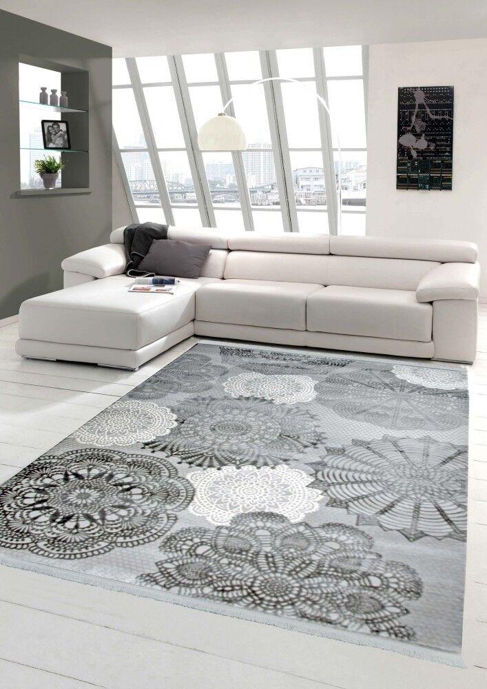 designer teppich moderner fransen teppich wollteppich kreismuster mit fransen moderner wohnzimmer 66b3ae