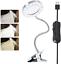 miniature 1 - 8X Lampe Loupe LED à Pince Portable de Bureau Rotation à 360°...